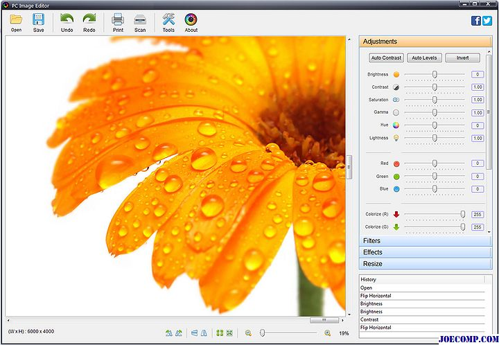 PC Image Editor: Editor de imágenes simple y gratuito para Windows