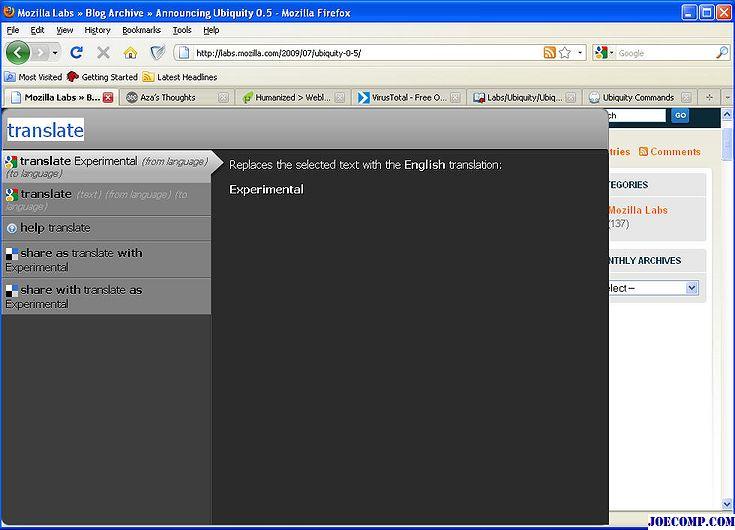 Beugen Sie das Internet mit dem Ubiquity Add-On für Firefox